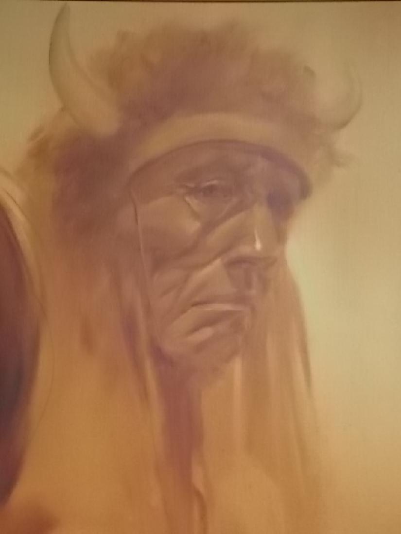 RARE MONUMENTAL LOPEZ BAYLON NATIVE AMERICAN PAINTING - 6