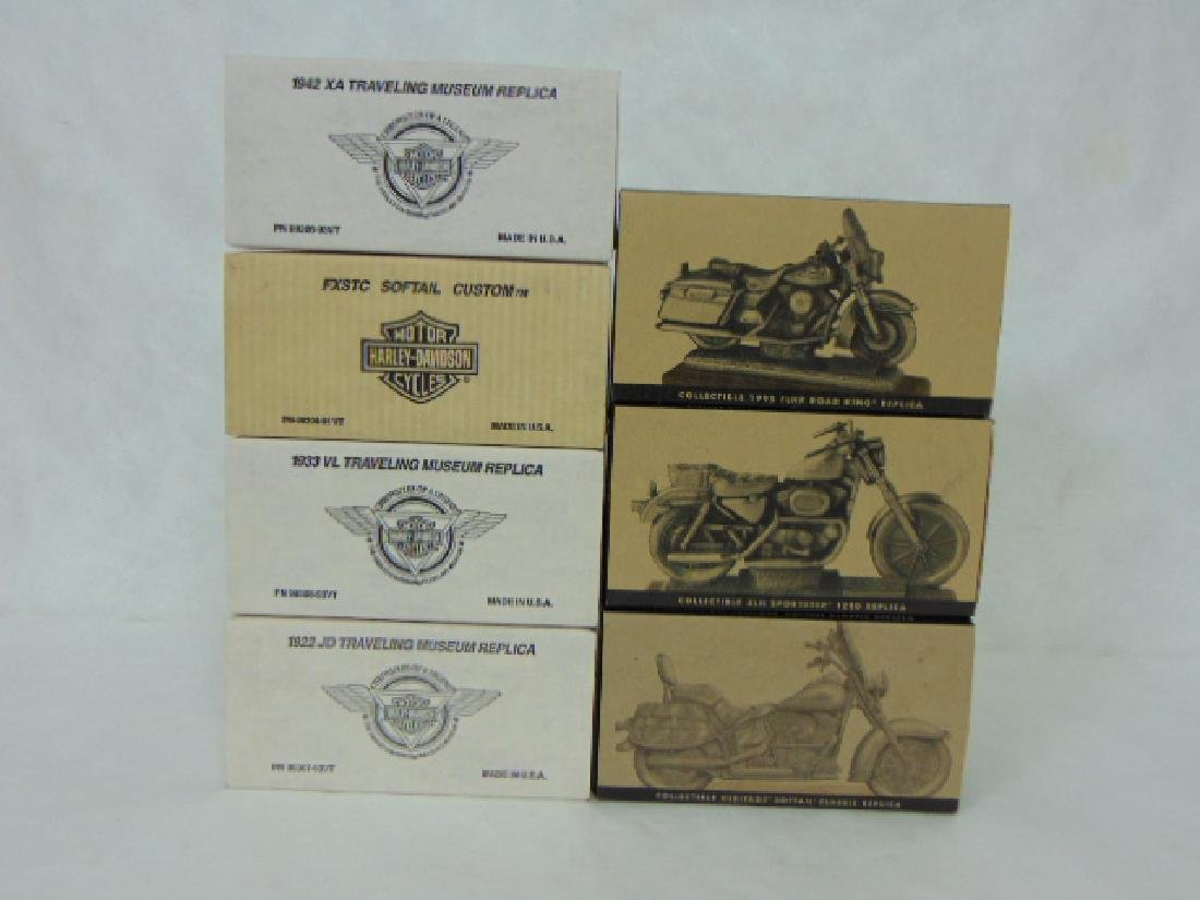LOT OF 7 COLLECTIBLE PEWTER HARLEY DAVIDSON FIGURES