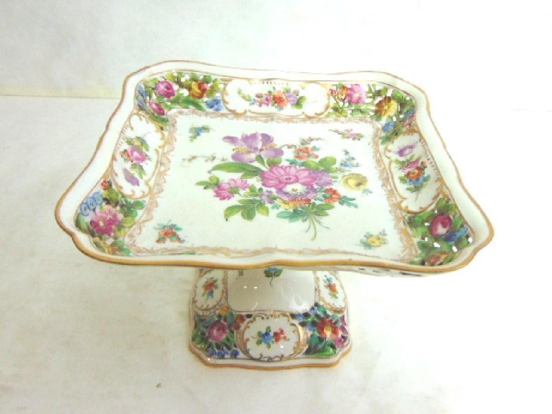 Vtg Carl Thieme Dresden German Reticulated Porcelain
