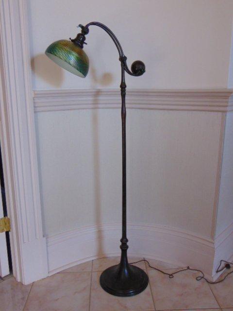 Antique Arts & Crafts Tiffany Favrile Glass Floor Lamp