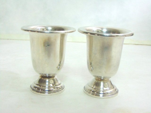 PR ANTIQUE STERLING SILVER TOOTHPICK HOLDERS