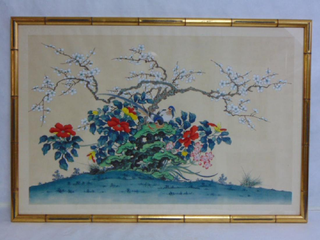 VINTAGE CHINESE PAINTING ON LINEN