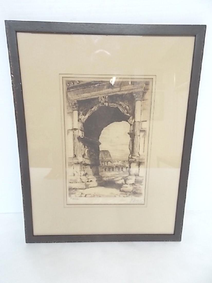 ANTIQUE MUSEUM QUALITY SIGNED ROMAN ? ENGRAVING