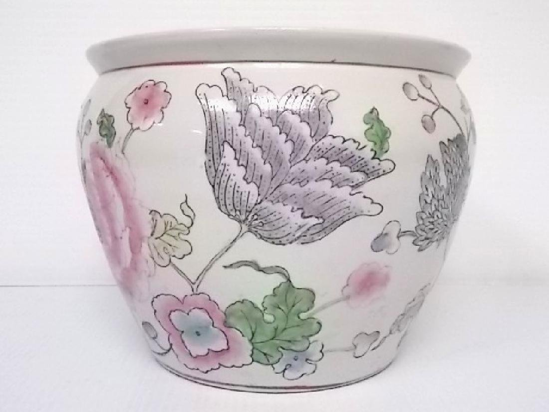 DECORATIVE CHINESE PORCELAIN FISH POT PLANTER