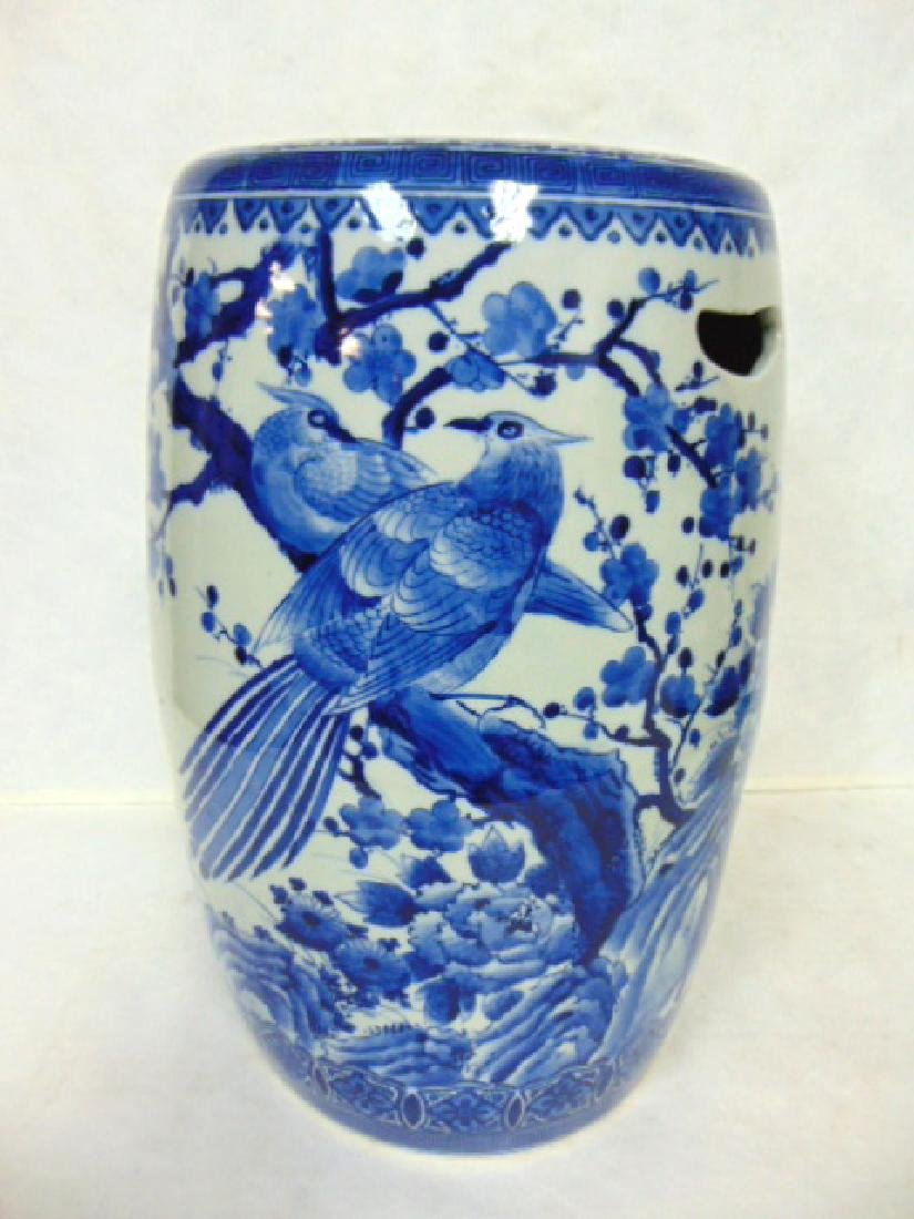 QUALITY BLUE & WHITE CHINESE PORCELAIN GARDEN STOOL