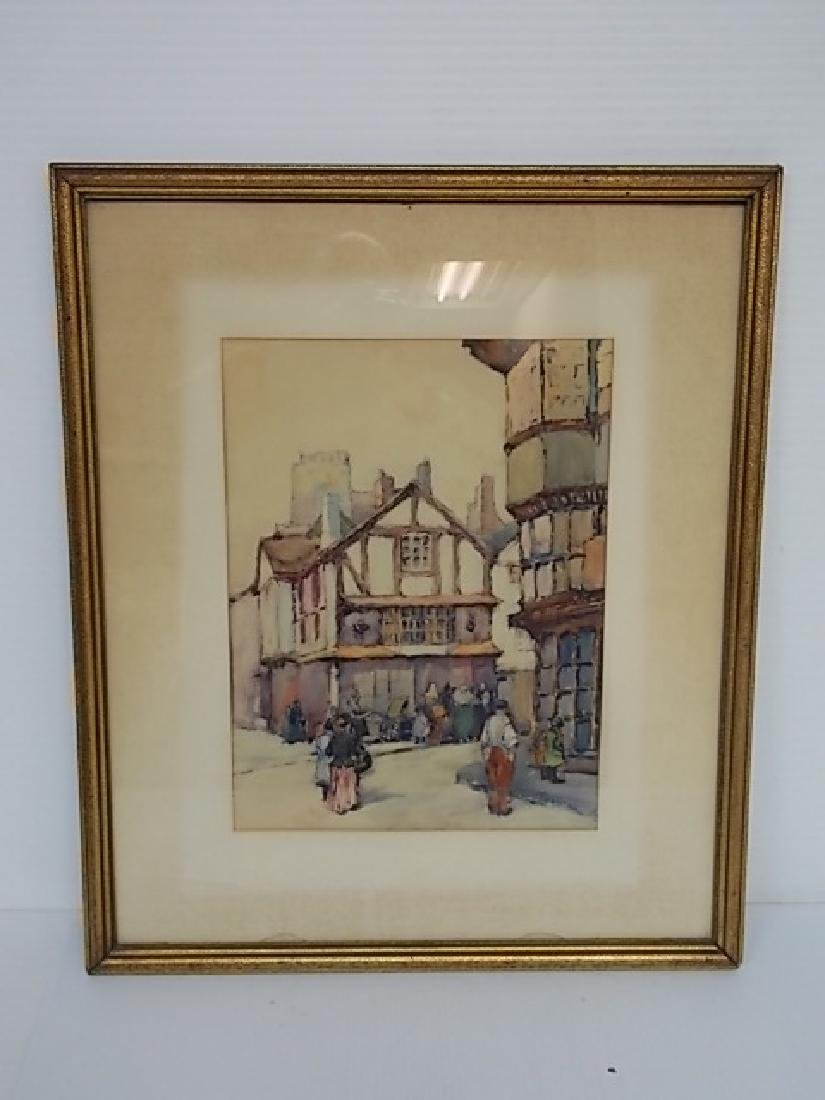 ANTIQUE F.D ALLISON LISTED ARTIST WATERCOLOR PAINTING