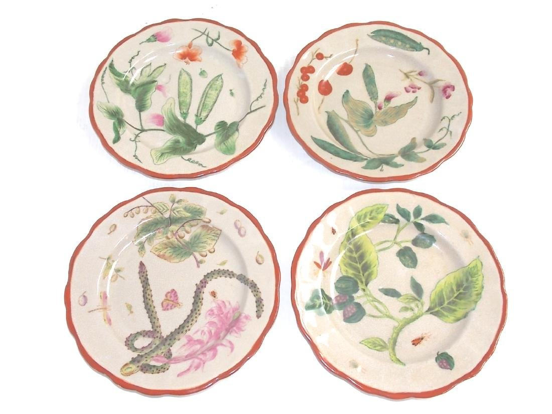 SET OF 4 DECORATIVE VICTORIAN STYLE DINNER PLATES