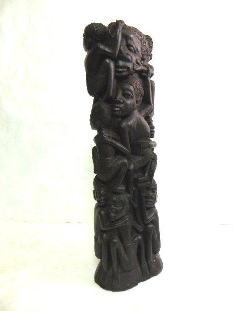 Vintage African Makonde UJAMAA Ebony Wood Tree of life