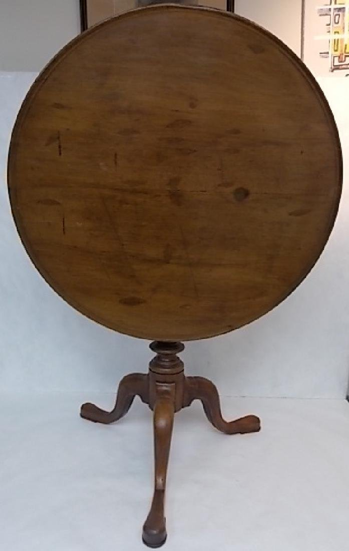 RARE 18TH C. QUEEN ANNE ENGLISH MAHOGANY TEA TABLE