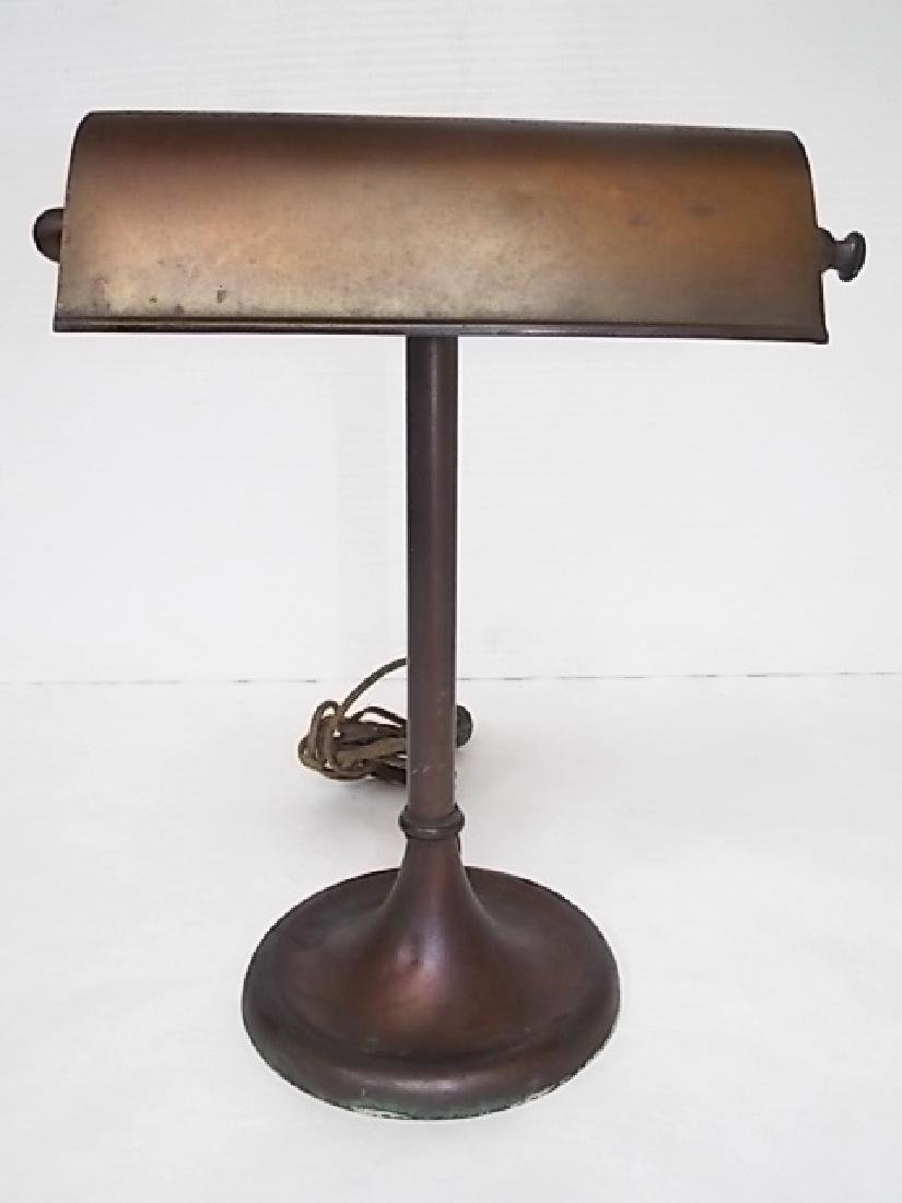 ANTIQUE COPPER STUDENTS DESK LAMP LIGHT