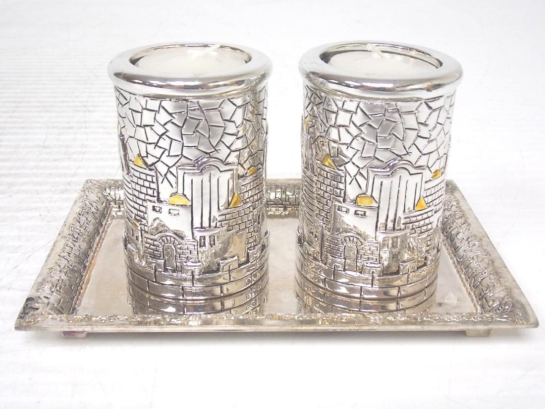 925 SILVER ELECTROPLATED VOTIVE CANDLEHOLDERS