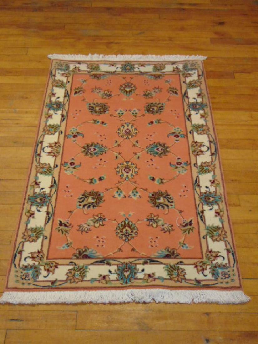 "HIGH QUALITY PERSIAN TABRIZ AREA RUG 2'4"" X 4'"