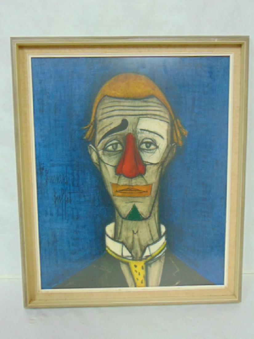 Vintage Tete the Clown Litho by Bernard Buffett