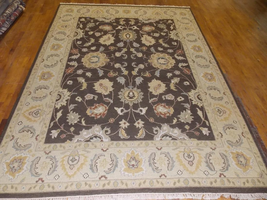 Decorative Indo Sumack Flatweave Rug 8 X 10 Brown/Beige