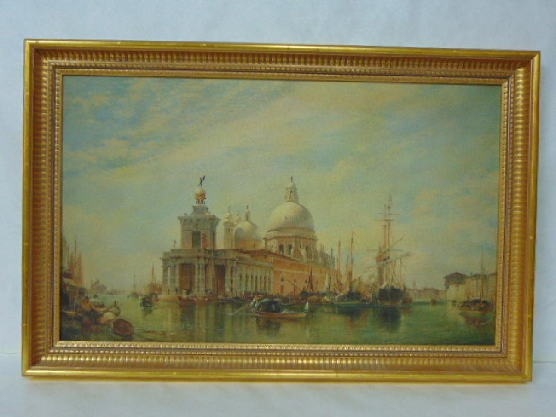 VINTAGE PRINT OF VENICE ON BOARD