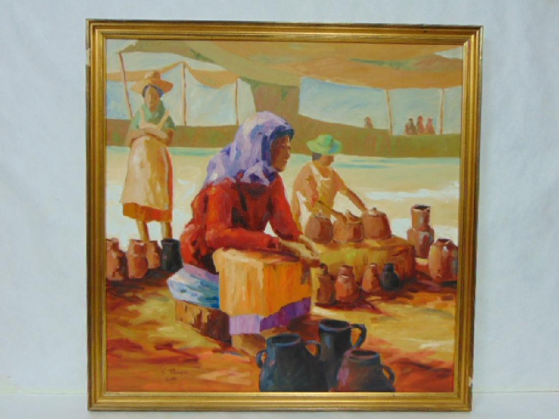 VINTAGE OIL ON CANVAS SOUTHWEST PAINTING S. PALMIERI