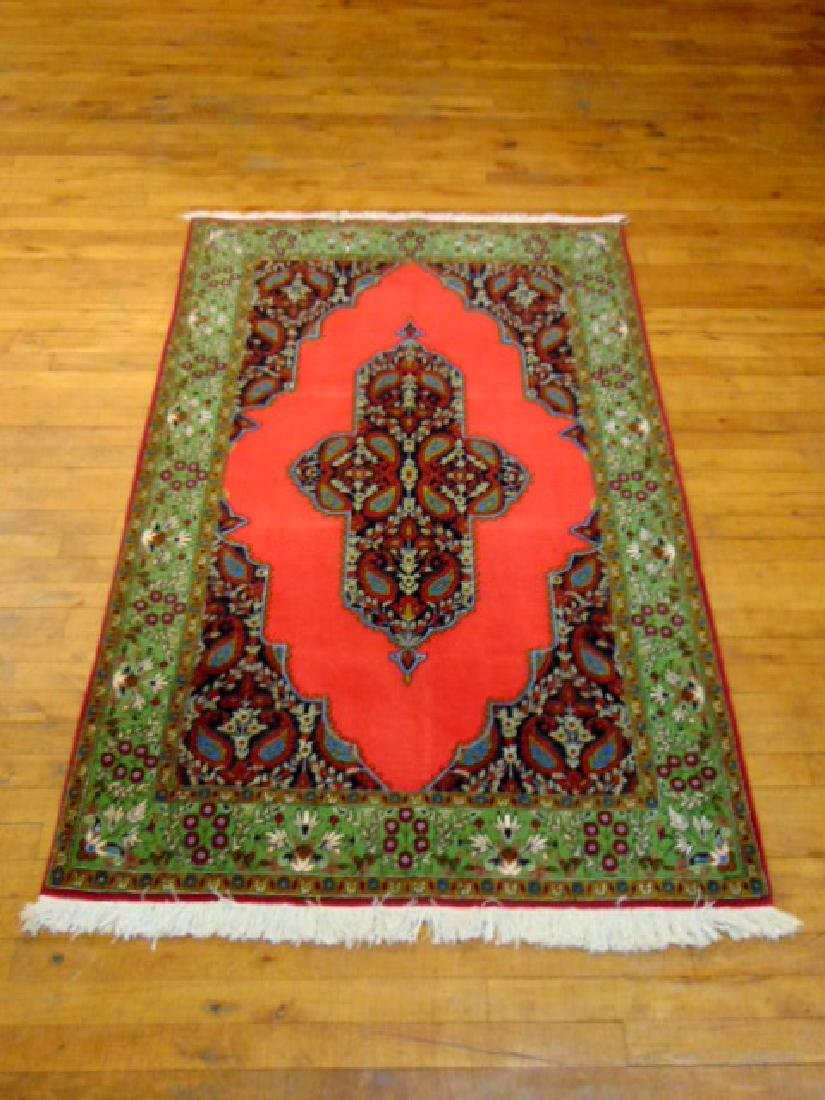 "HIGH QUALITY HANDMADE PERSIAN QUM RUG 5'9"" X 8'7"""