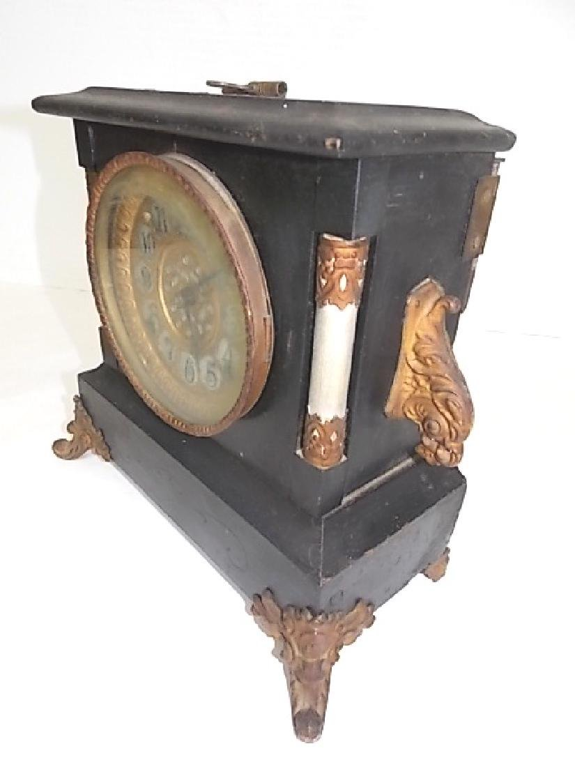 VINTAGE ANTIQUE GILBERT MANTLE CLOCK - 2