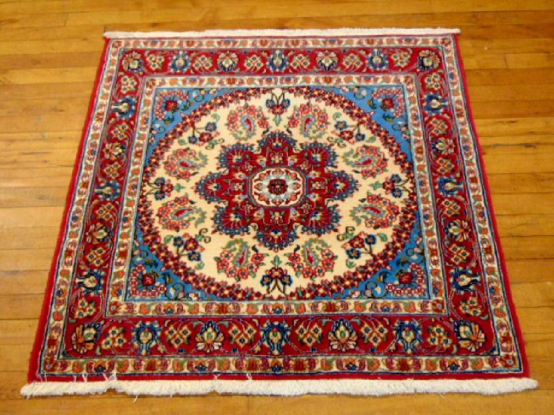 "HIGH QUALITY PERSIAN GHOM AREA RUG 3'2"" X 3'4"""