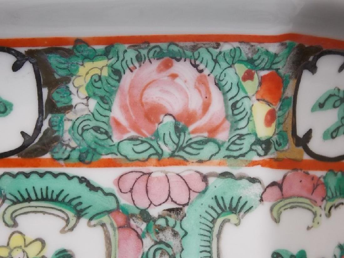 CHINESE FAMILLE ROSE PORCELAIN HEX PLANTER - 4