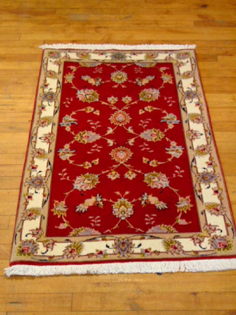 "HIGH QUALITY PERSIAN TABRIZ AREA RUG 2'5"" X 3'9"""