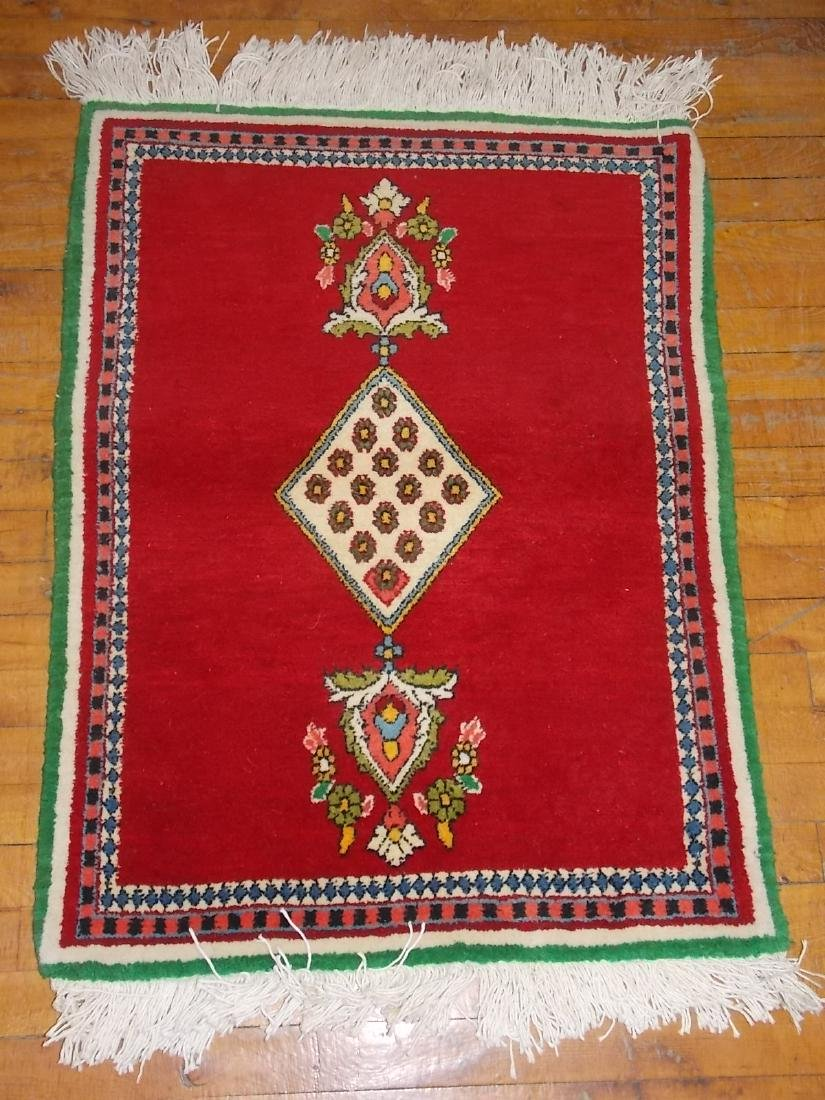 HANDMADE PERSIAN TABRIZ RUG 2.4 X 3.2 RED/MULTI