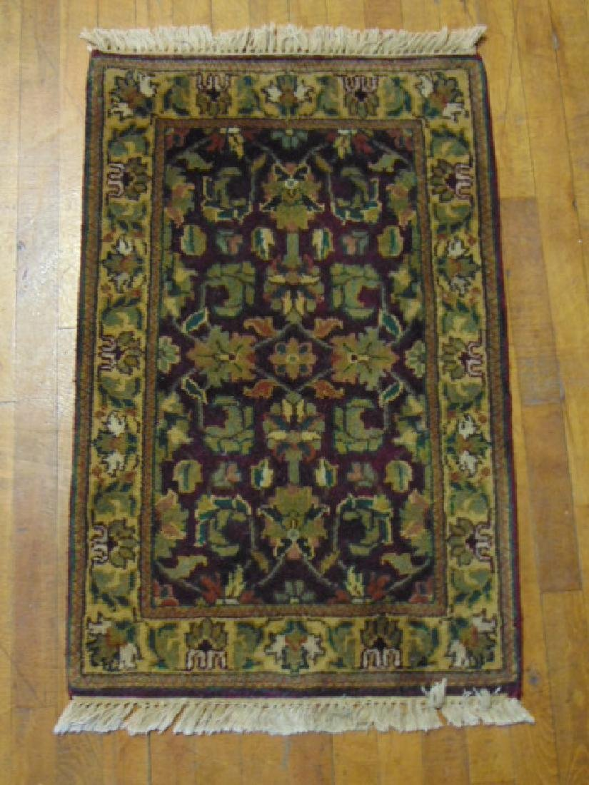 DECORATIVE HANDMADE INDIA OUSHAK  SMALL AREA RUG