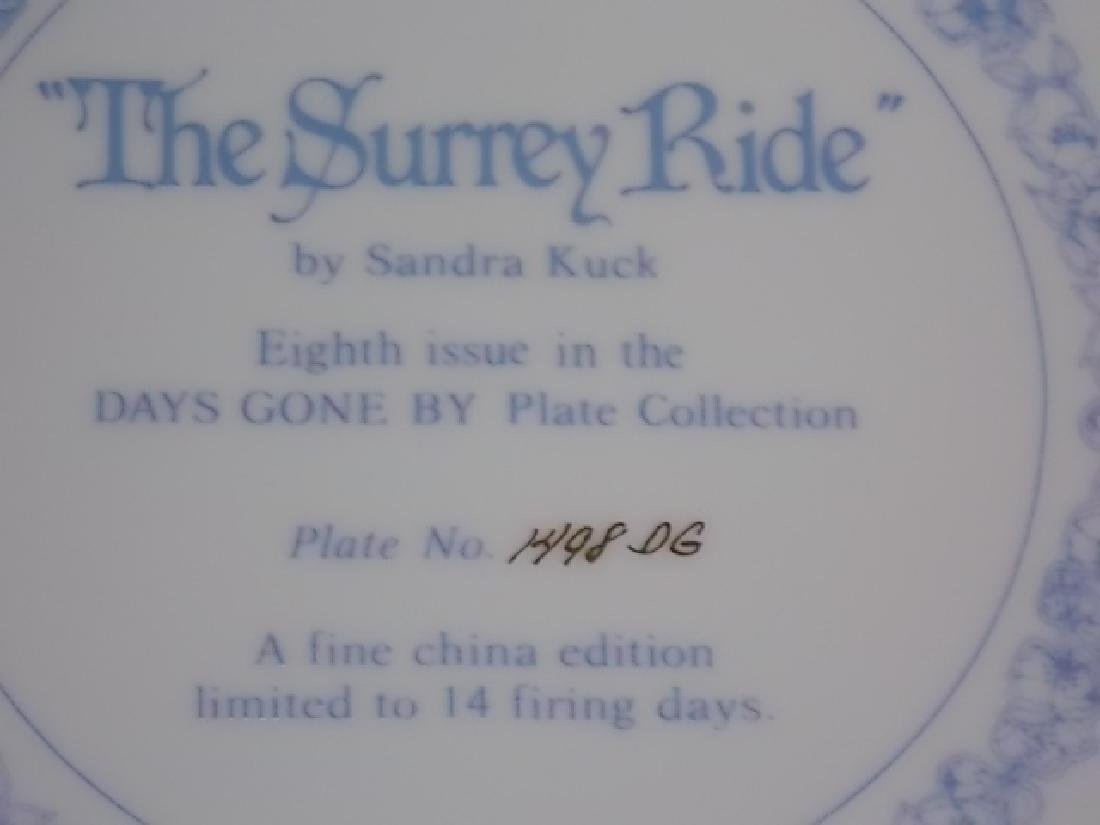 "1984 DAYS GONE BY COLLECTORS PLATE ""THE SURREY RIDE"" - 4"