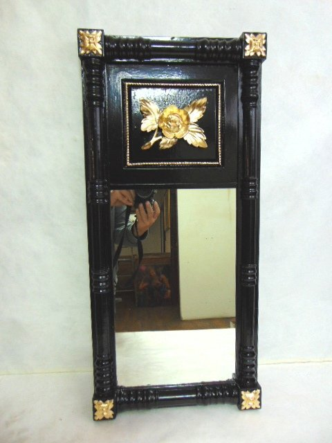 Antique Wall Mirror w/ Floral Gold Leaf