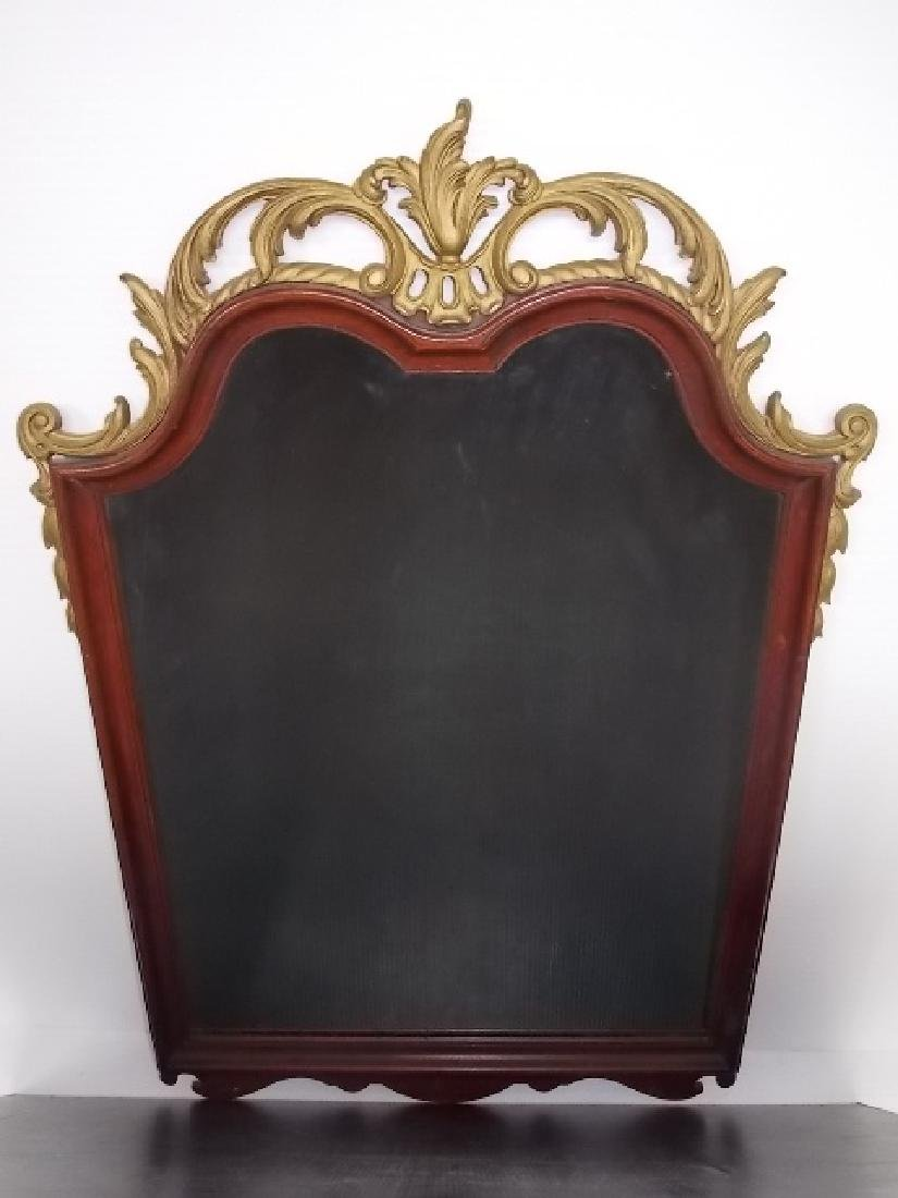 ANTIQUE VICTORIAN CHIPPENDALE ? STYLE MAHOGANY MIRROR