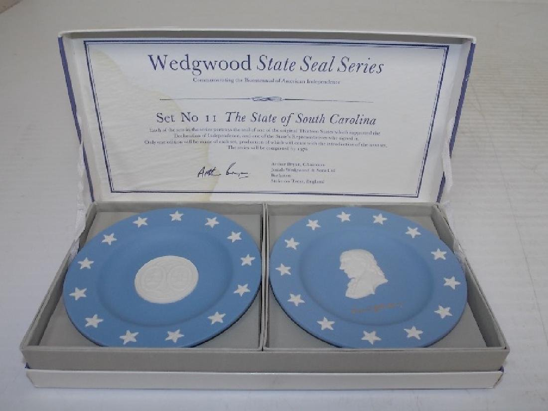 BLUE JASPERWARE WEDGWOOD STATE PLATES S. CAROLINA