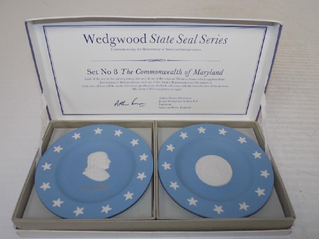 BLUE JASPERWARE WEDGWOOD STATE PLATES MARYLAND