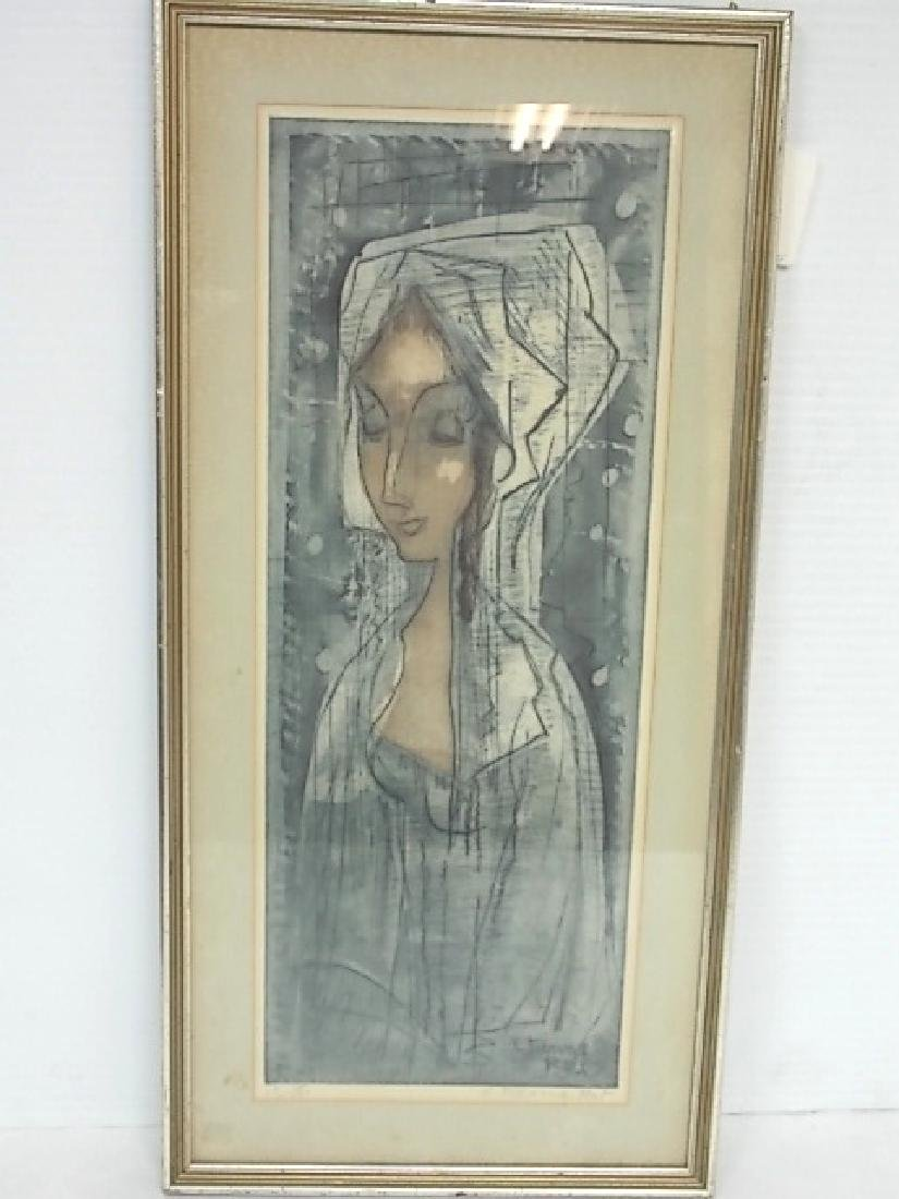 FRENCH ANTIQUE ETCHING BY LISTED ARTIST ETIENNE RET