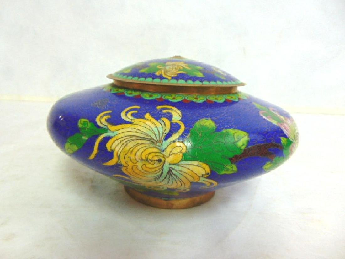 VINTAGE ANTIQUE CHINESE CLOISONNE URN JAR
