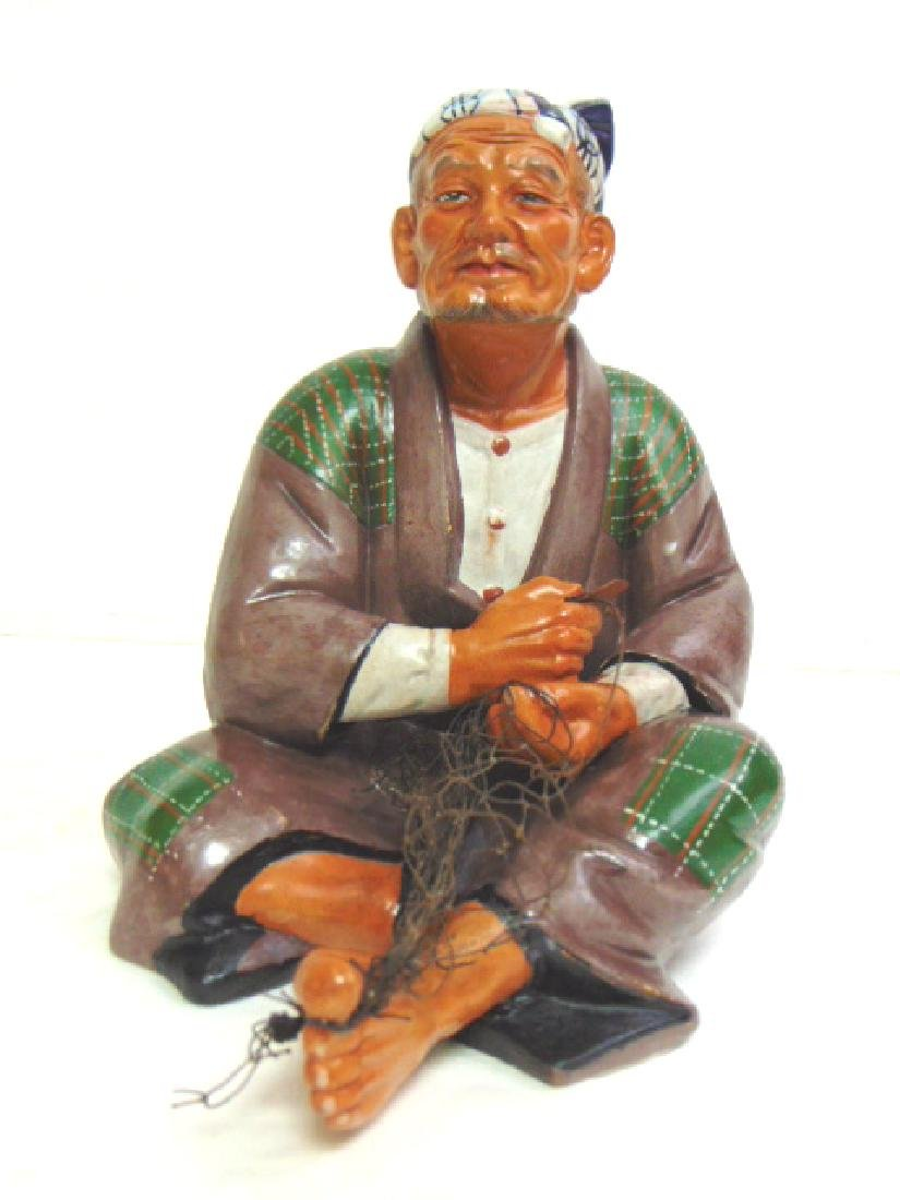VINTAGE JAPANESE MUDMAN FISHERMAN FIGURE