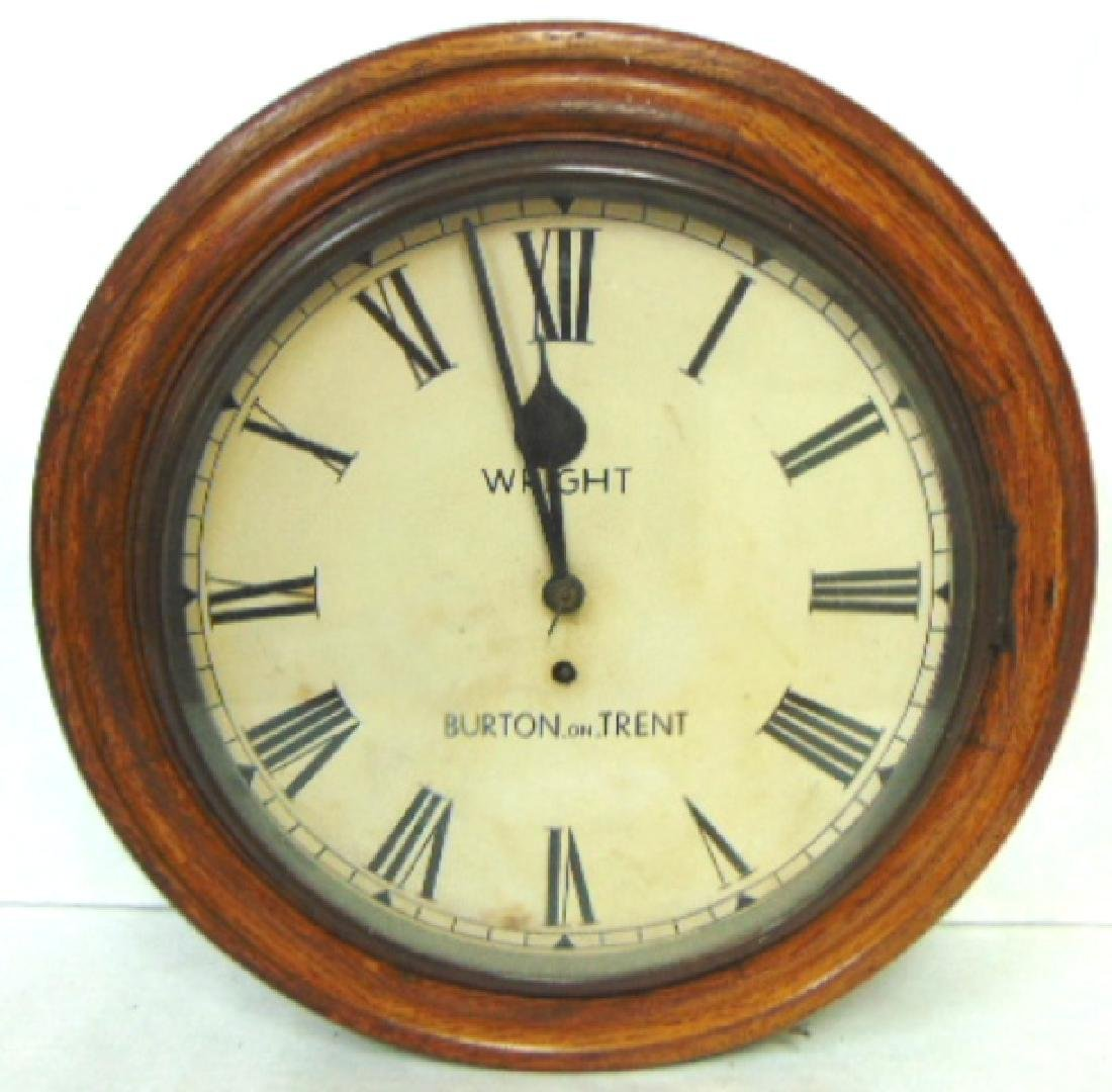 RARE ANTIQUE ENGLISH CLOCK MADE BY WRIGHT OF BURTON