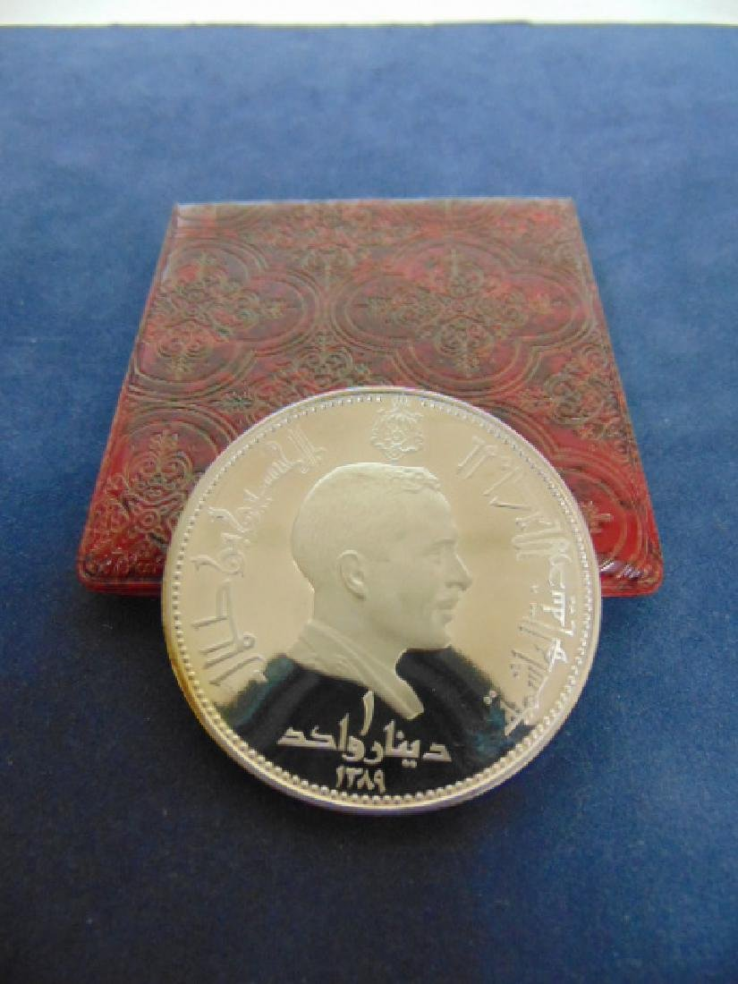 COLLECTIBLE 1968 SILVER DINAR COIN FROM JORDAN