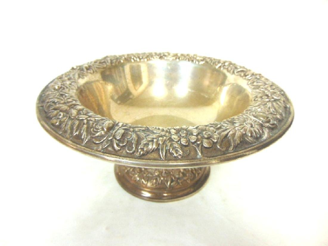 ANTIQUE STERLING SILVER KIRK & SON REPOUSSE BOWL