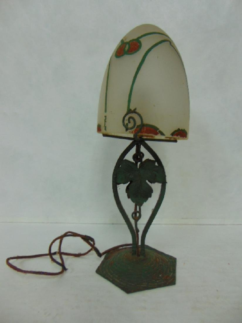 ANTIQUE FRENCH ART DECO MULLER FRERES STYLE LAMP