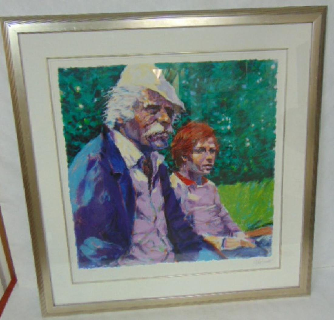 VINTAGE LISTED ARTIST ALDO LUONGO LIMITED SERIGRAPH