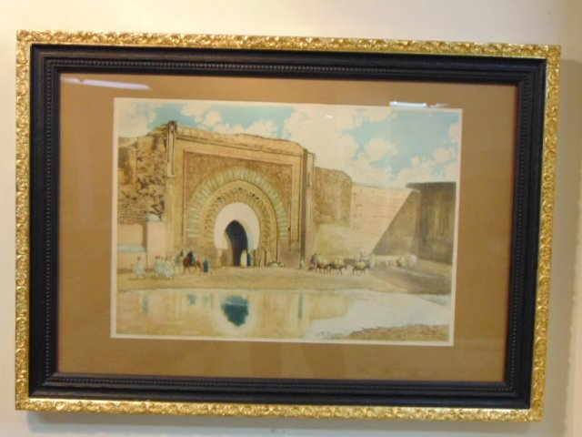 Vintage Antique Aquatint Etching Print Maurice Romberg