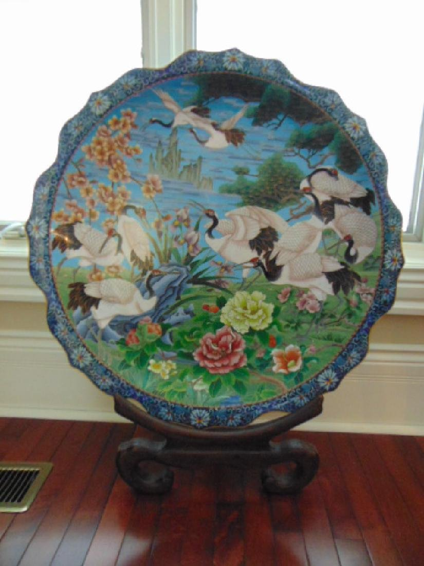 Vintage Antique Collectible Chinese Cloisonne Charger