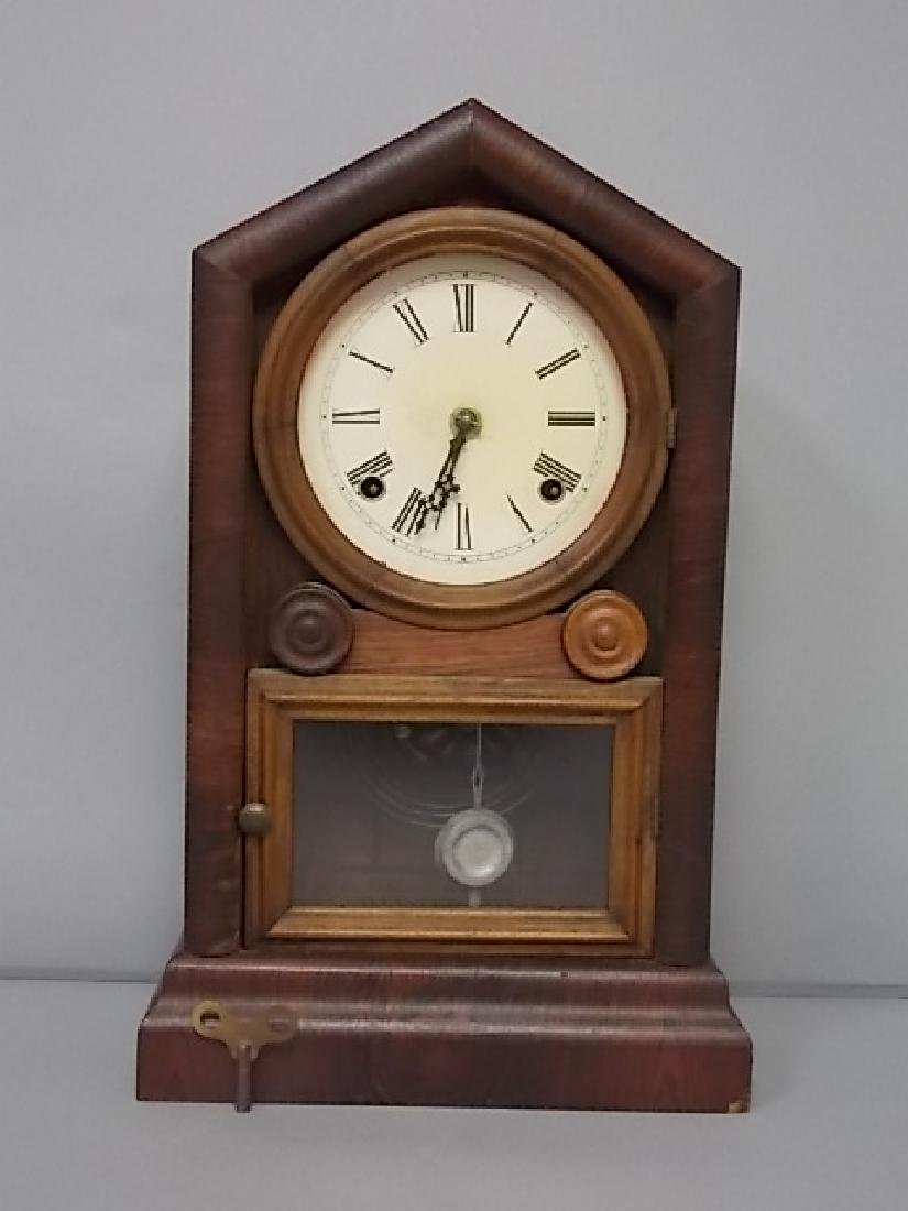 ANTIQUE CATHEDRAL TOMBSTONE THOMAS GILBERT MANTLE CLOCK