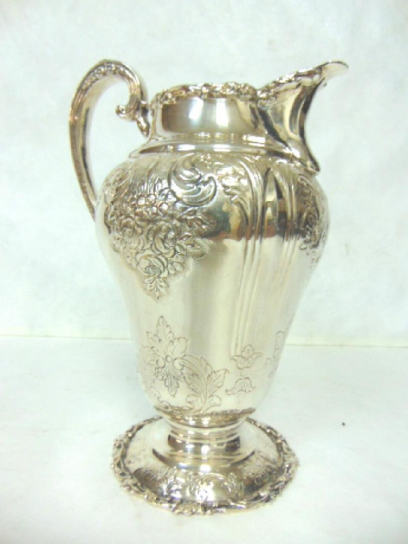 Antique Samuel Kirk Coin Silver Water Pitcher