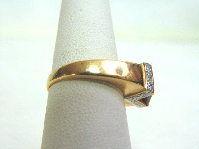 14k Yellow Gold Ring w/ Ruby & Diamonds - 2