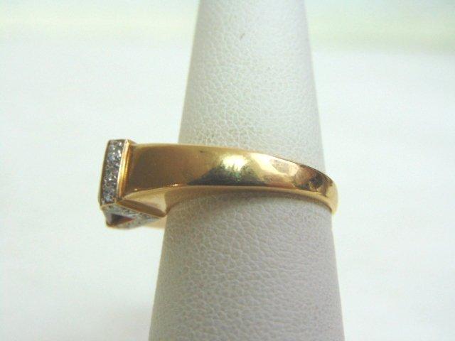 14k Yellow Gold Ring w/ Ruby & Diamonds - 3