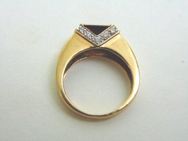14k Yellow Gold Ring w/ Ruby & Diamonds - 5