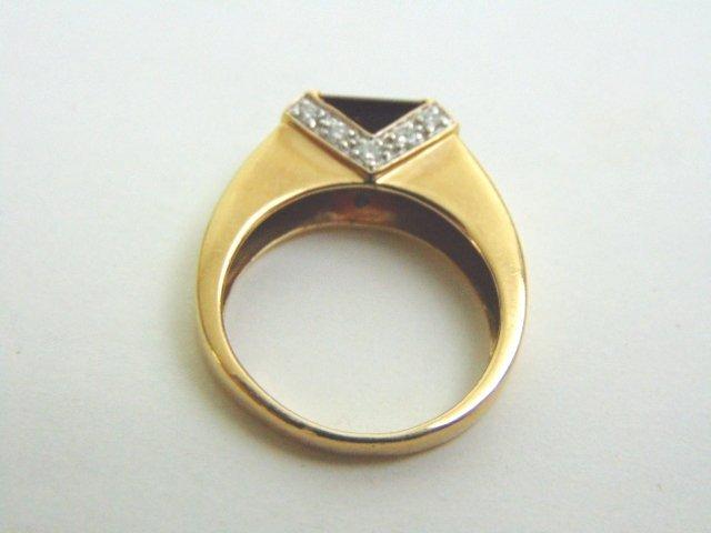 14k Yellow Gold Ring w/ Ruby & Diamonds - 6