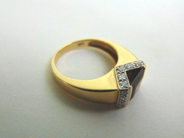 14k Yellow Gold Ring w/ Ruby & Diamonds - 7