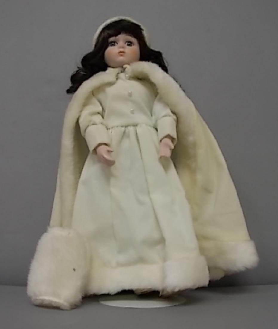 COLLECTIBLE RENEE WINTER BABY PORCELAIN BISQUE DOLL